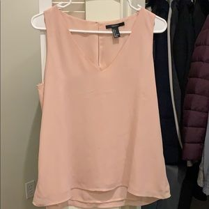 Forever 21 blush sleeveless blouse